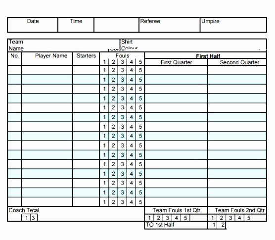 Printable soccer Stat Sheet Beautiful 10 Football Stat Sheet Template Excel Aieer