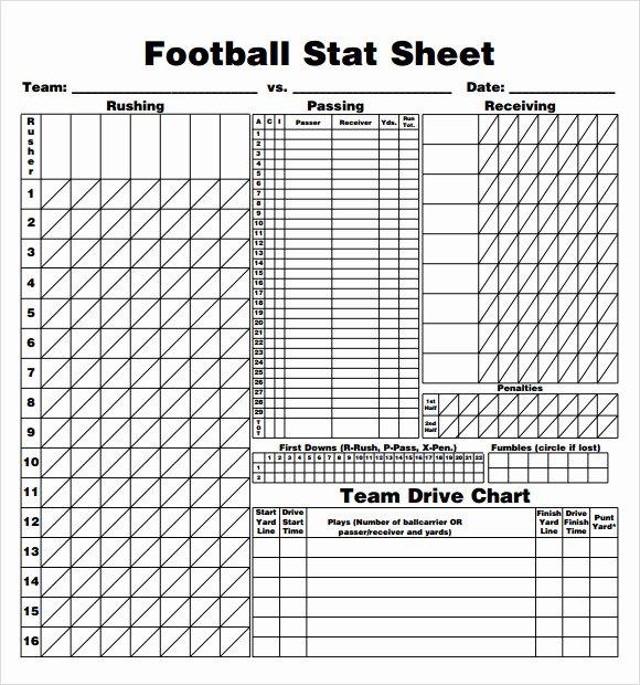 Printable soccer Stat Sheet Beautiful Sample Football Score Sheet 12 Documents In Pdf