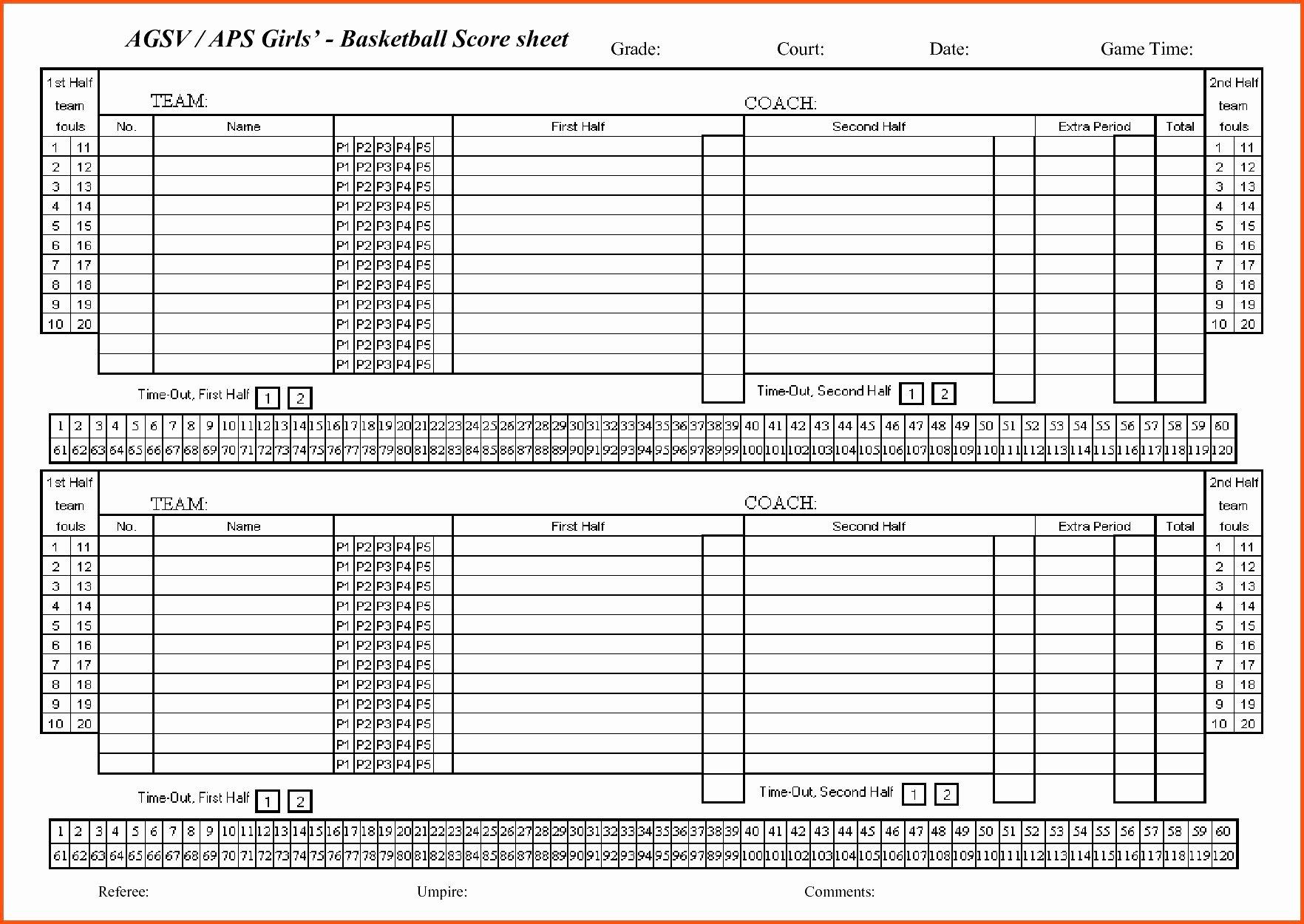 Printable soccer Stat Sheet Best Of soccer Stats Spreadsheet Template In Basketball Stat Sheet