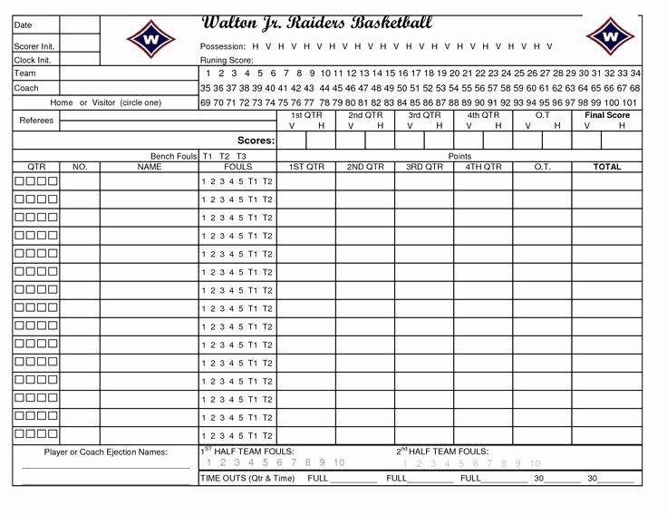 Printable soccer Stat Sheet Fresh Printable Basketball Stat Sheet New Calendar Template Site