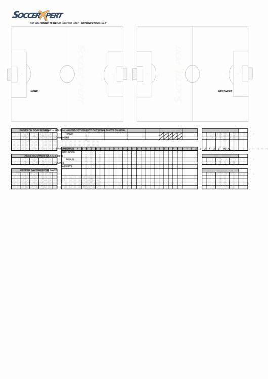 Printable soccer Stat Sheet Lovely soccer Stats Sheet Printable Pdf