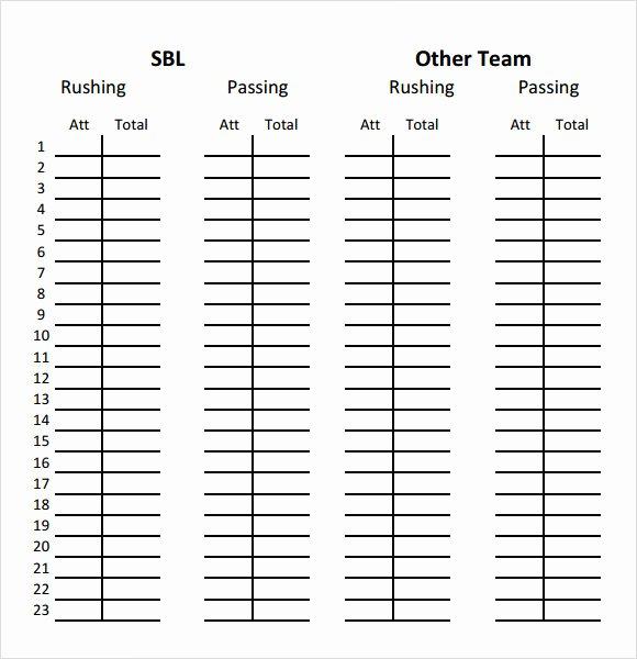 Printable soccer Stat Sheet New Basketball Score Sheet Microsoft Word
