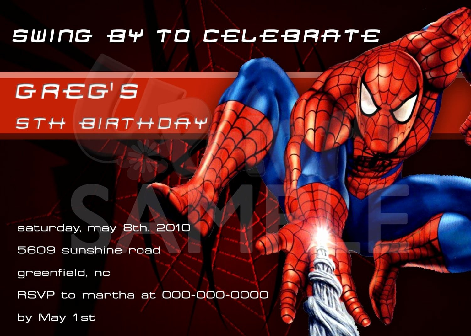 Printable Spiderman Birthday Card Awesome Spider Man Printable Birthday Invitation