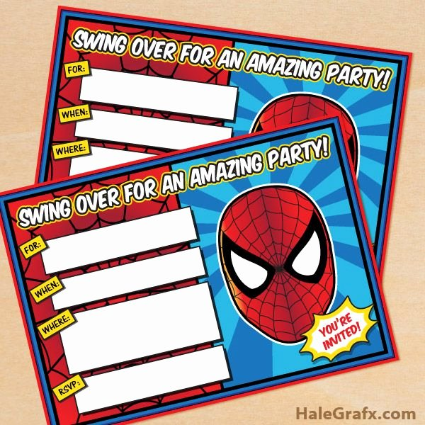 Printable Spiderman Birthday Card Best Of Here to Free Printable Spider Man Birthday