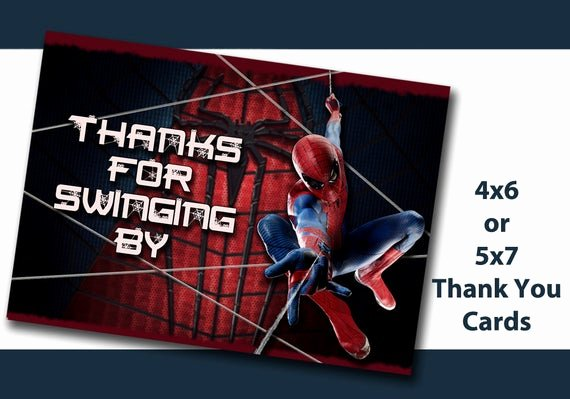 Printable Spiderman Birthday Card Elegant Spiderman Thank You Cards Spider Man Thank You Note Birthday