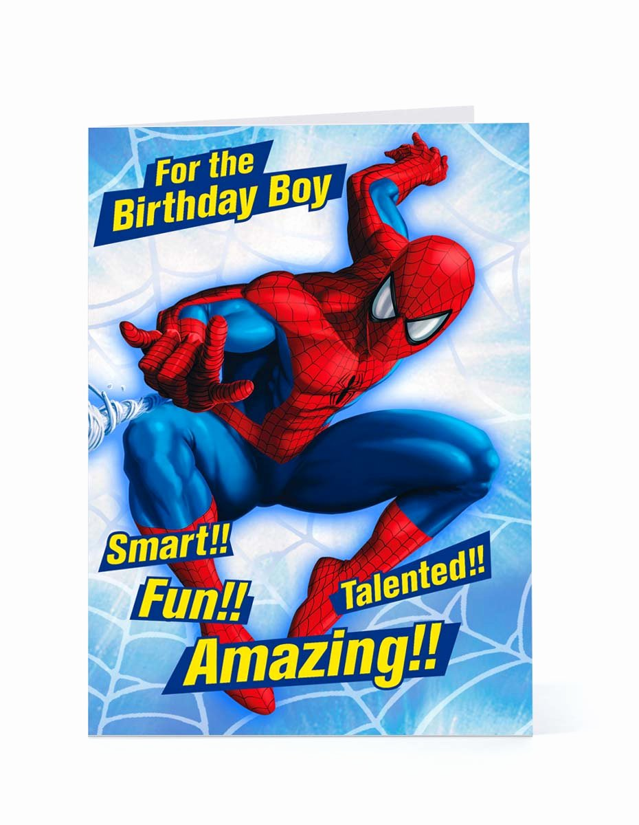 Printable Spiderman Birthday Card Fresh Spider Man Happy Birthday Quotes Quotesgram