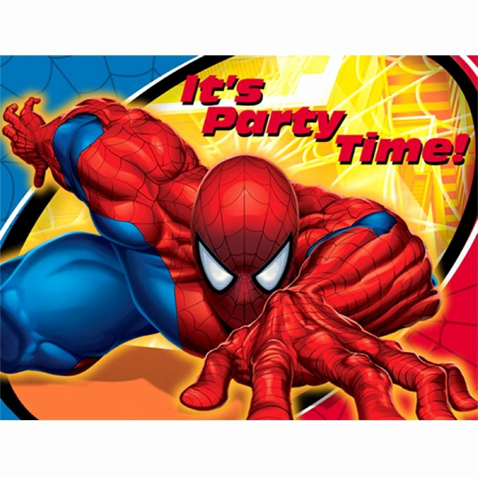 Printable Spiderman Birthday Card Fresh Spider Man Party Supplies Slinging Up An Amazing Spider