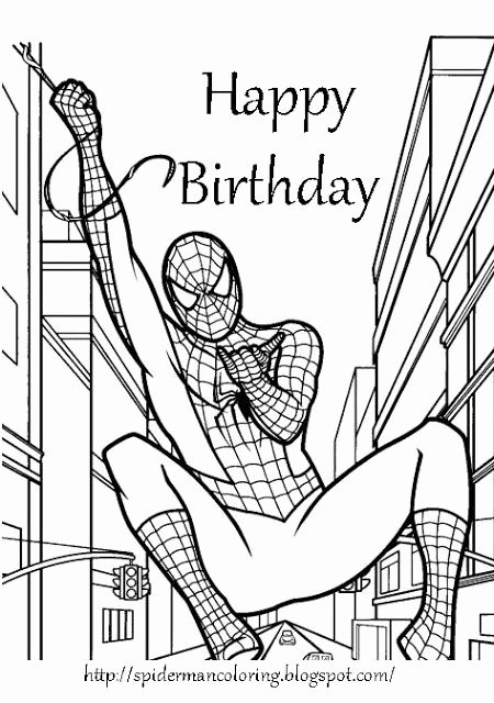 Printable Spiderman Birthday Card Lovely Happy 6th Birthday Printable Coloring Pages