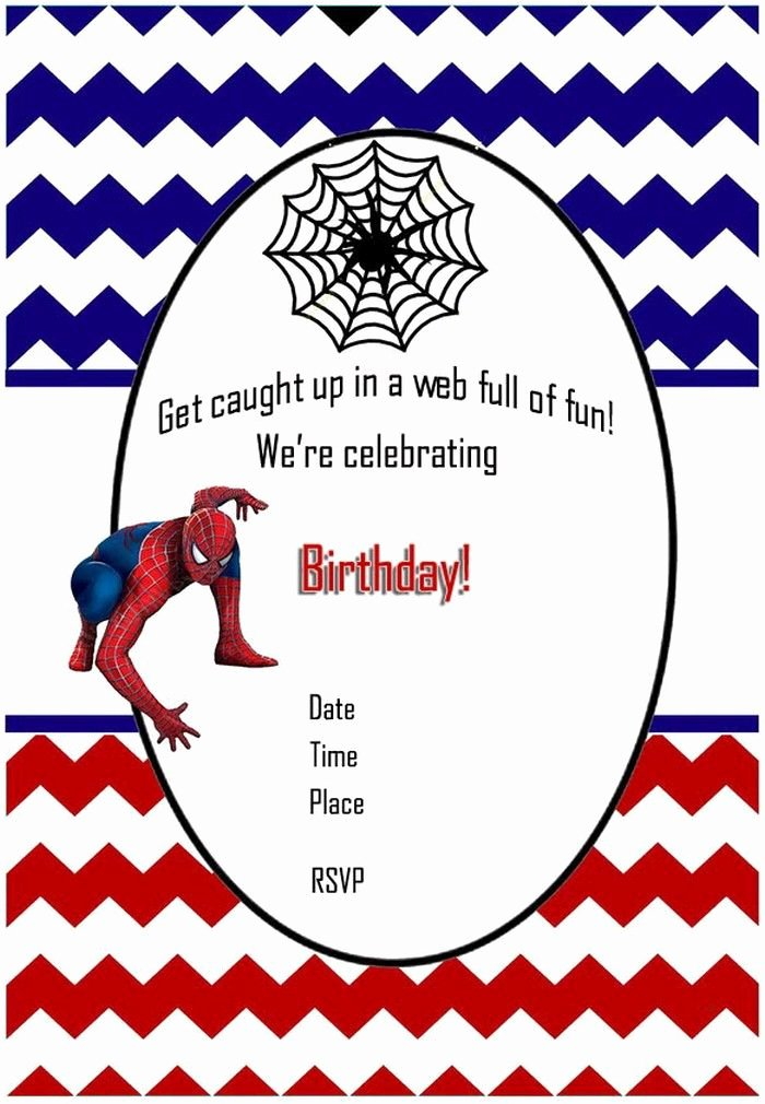Printable Spiderman Birthday Card Lovely Printable Spiderman Birthday Invitation