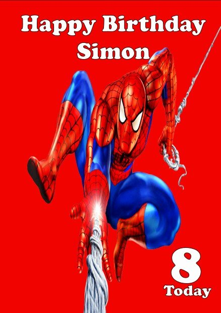 Printable Spiderman Birthday Card Luxury Personalised Spiderman Birthday Card