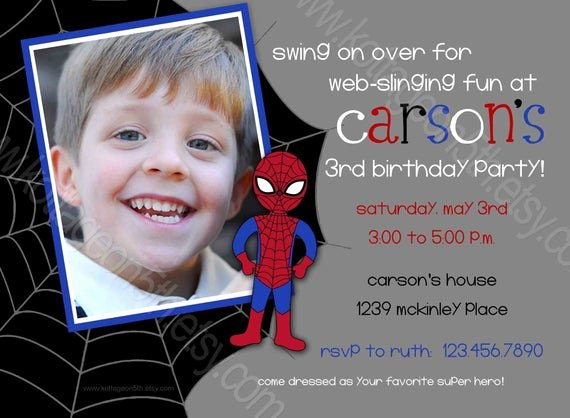 Printable Spiderman Birthday Card Unique Items Similar to Spiderboy Superhero Spiderman