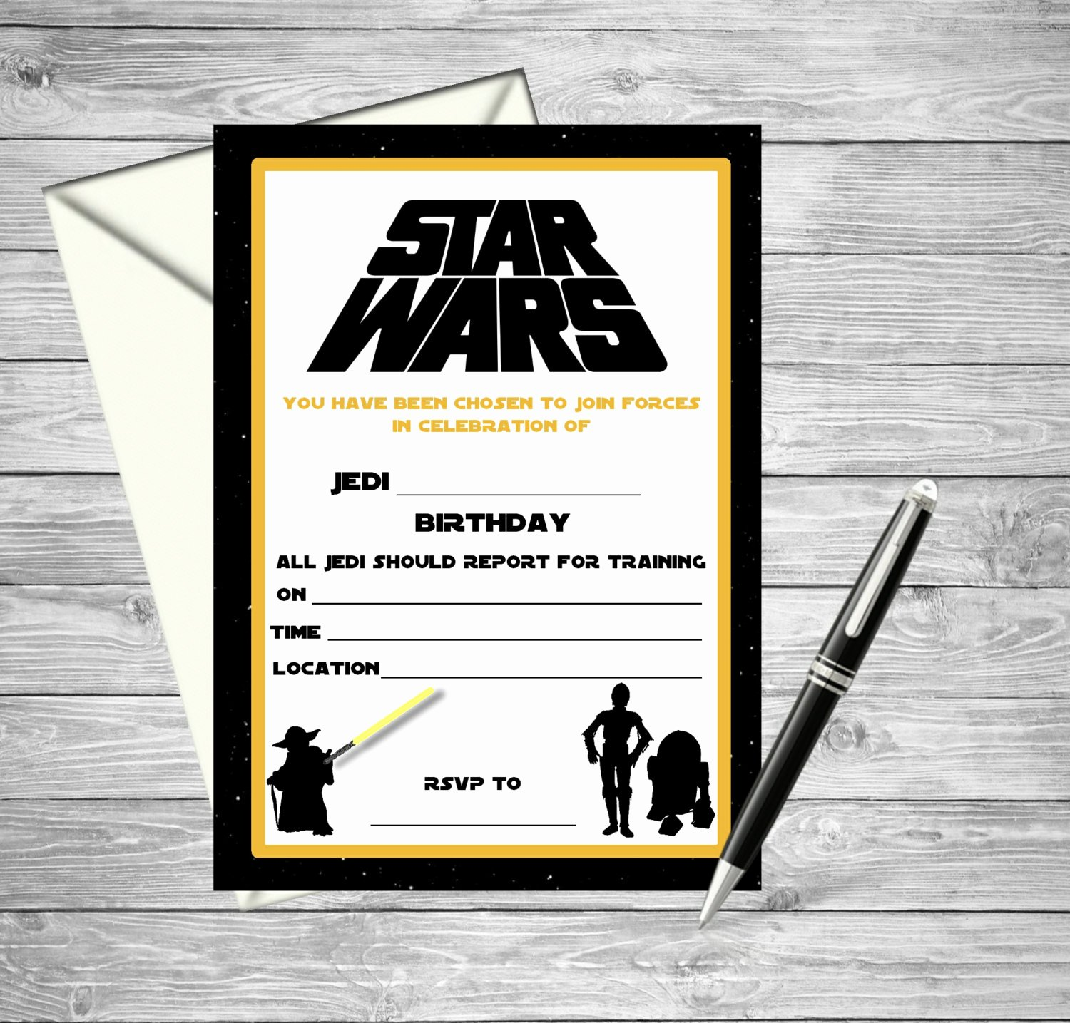 Printable Star Wars Invitation Awesome Star Wars Printable Birthday Invitation Fill by