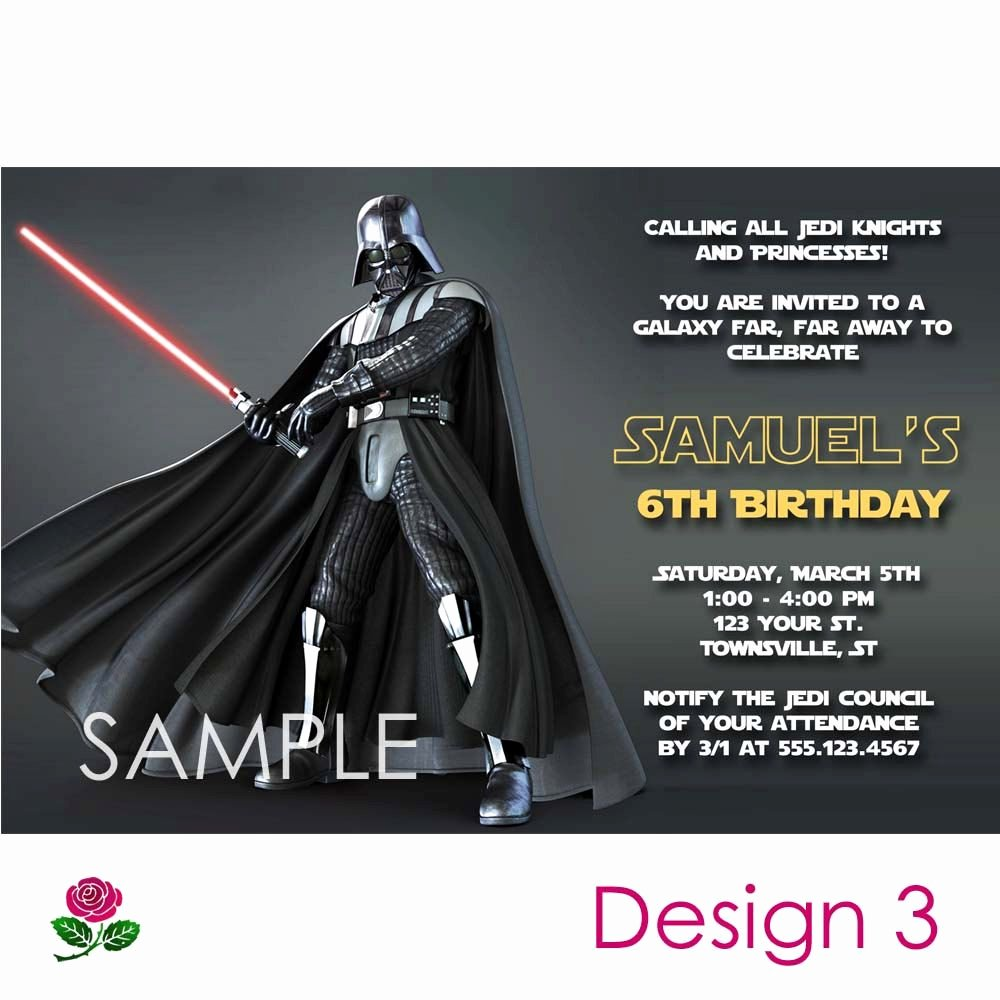 Printable Star Wars Invitation Beautiful Star Wars Invitation Printable Birthday Party You Print