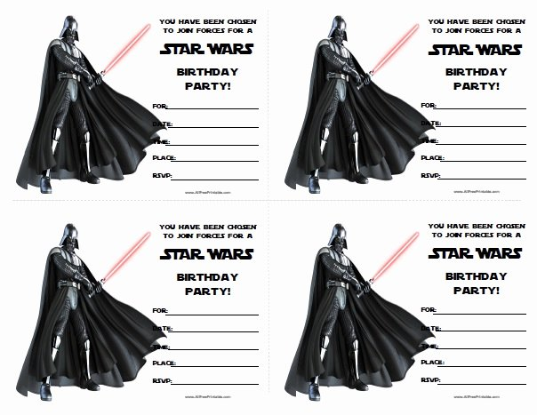 Printable Star Wars Invitation Fresh Star Wars Birthday Invitations Free Printable