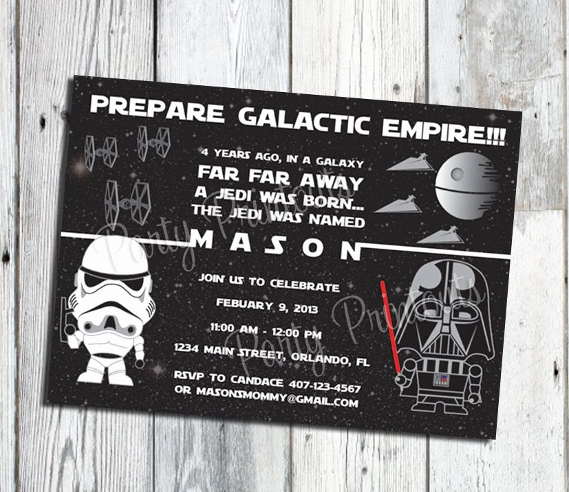 Printable Star Wars Invitation Lovely Star Wars Invitation Printable Star Wars Party