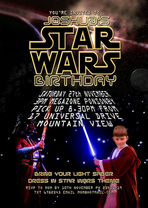 Printable Star Wars Invitation New Star Wars Party Printable Invitation with