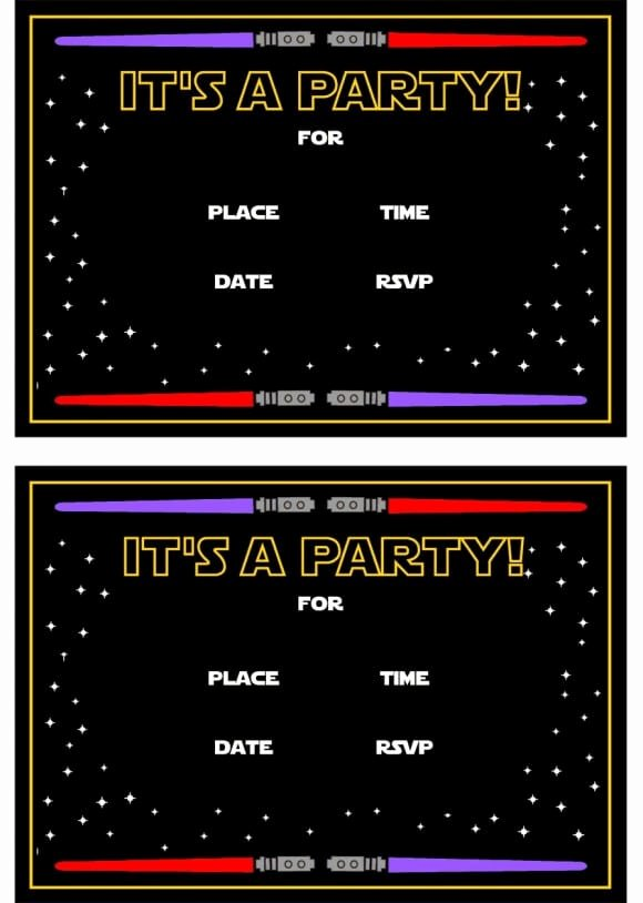 Printable Star Wars Invitation New the Best Star Wars Party Ideas Happiness is Homemade