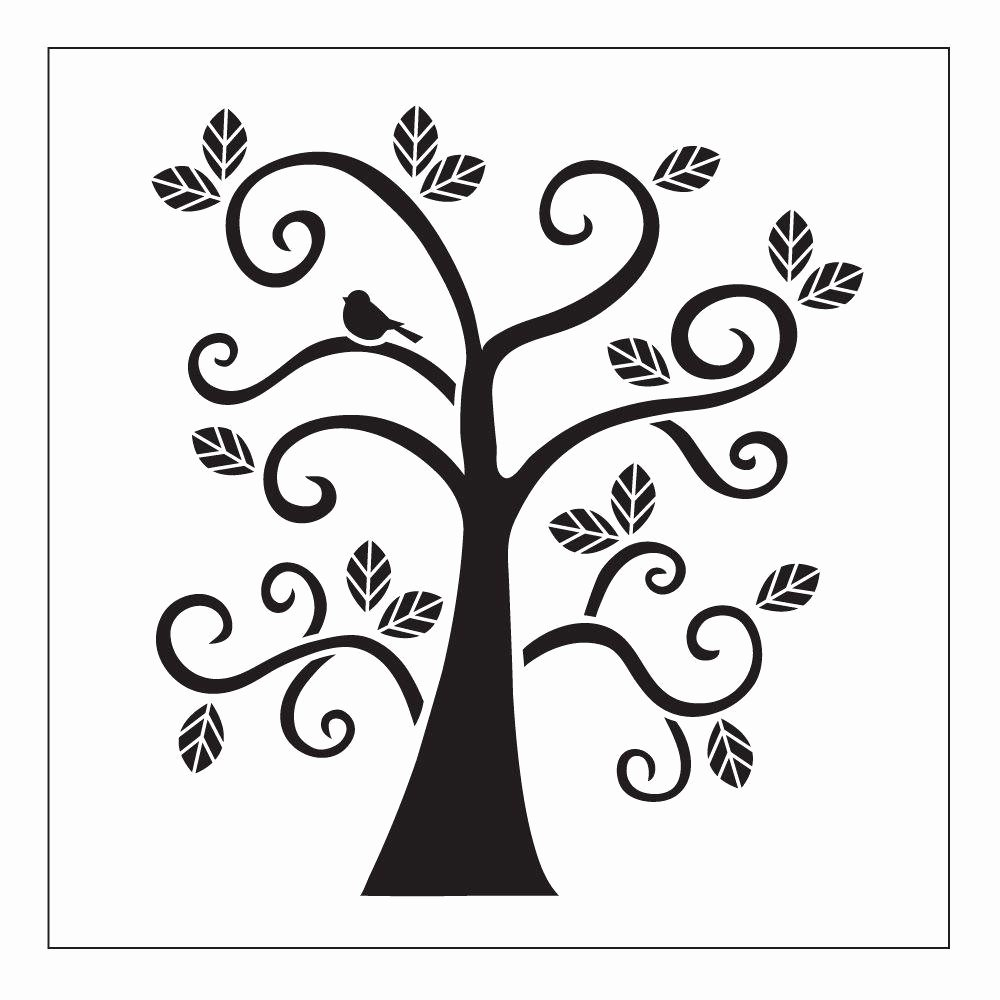 Printable Stencils for Painting Awesome Folkart Curly Tree Small Painting Stencils the