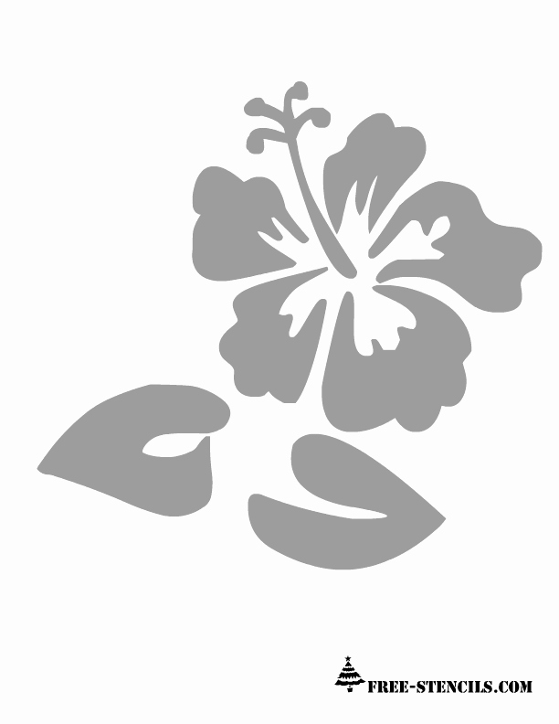 Printable Stencils for Painting Elegant Free Printable Flower Stencil 612×792 Pixels