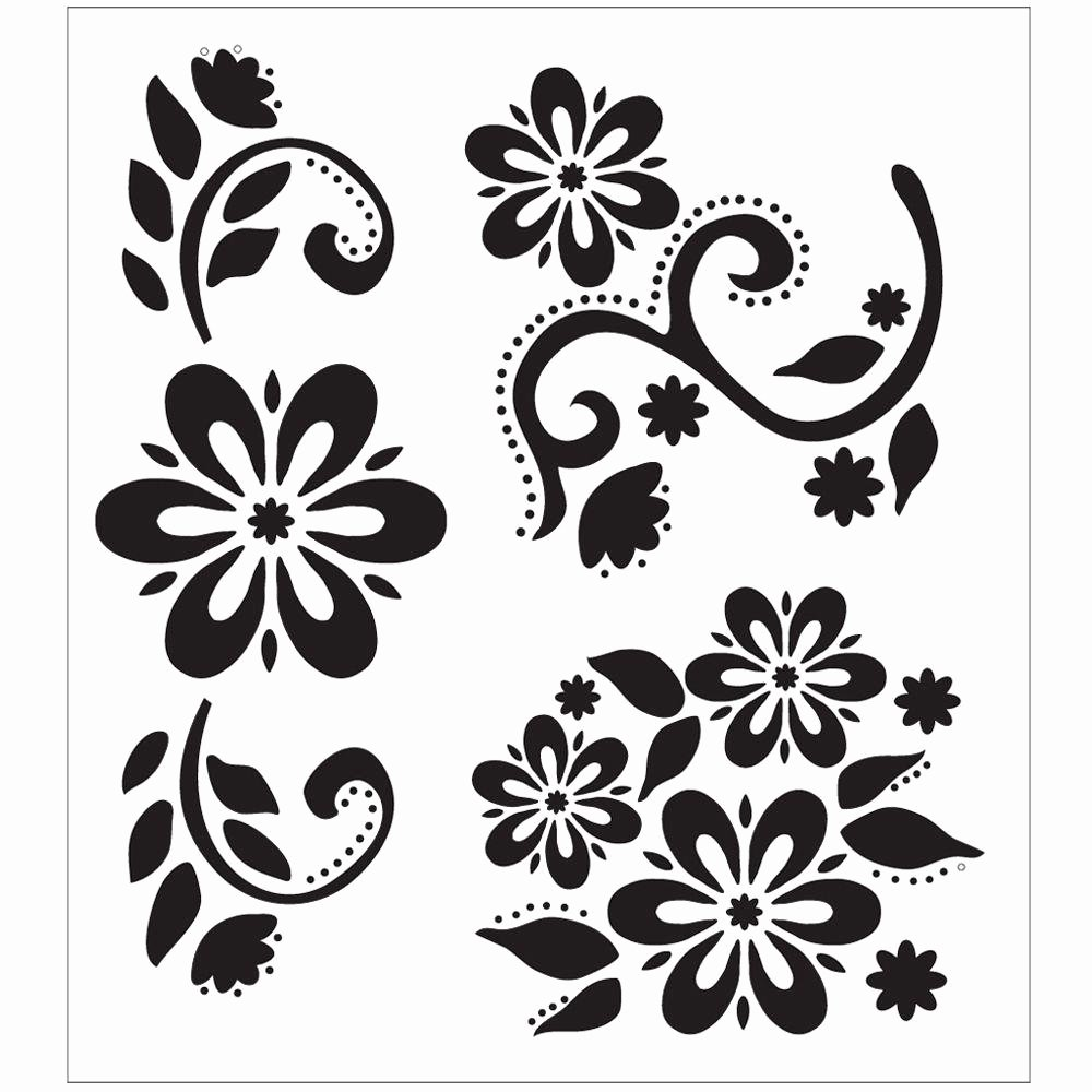 Printable Stencils for Painting Luxury Folkart Debbie S Floral Painting Stencils the Home