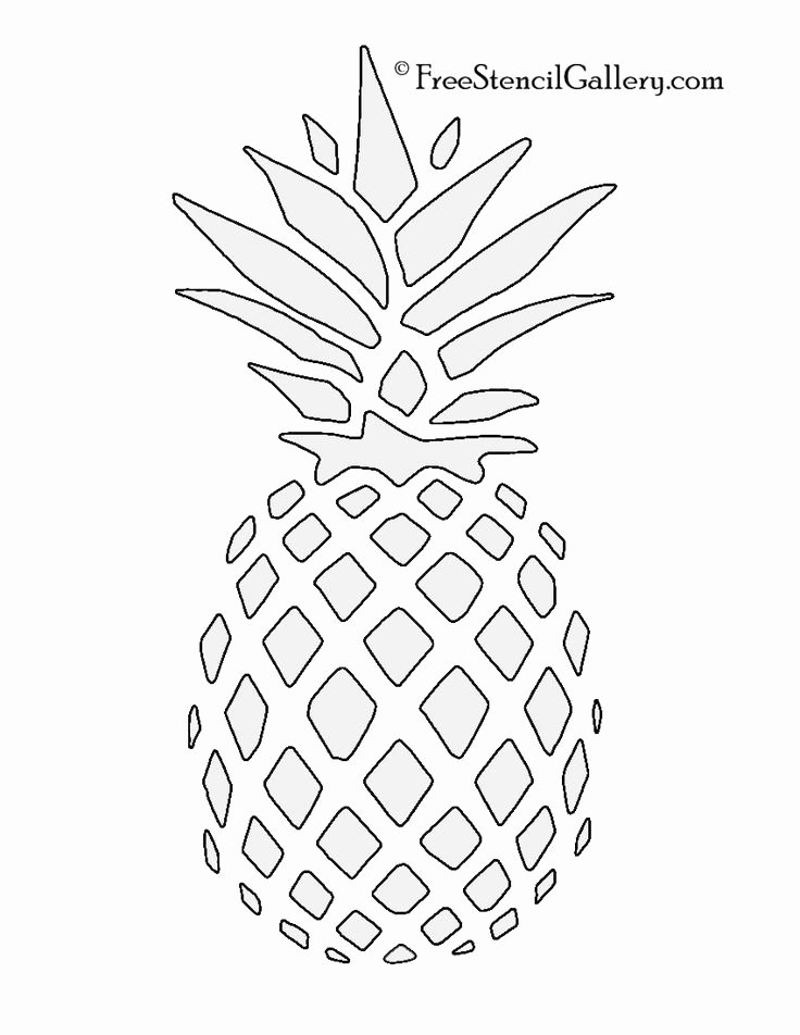Printable Stencils for Painting Luxury Pineapple Stencil Free Stencil Gallery Stencils