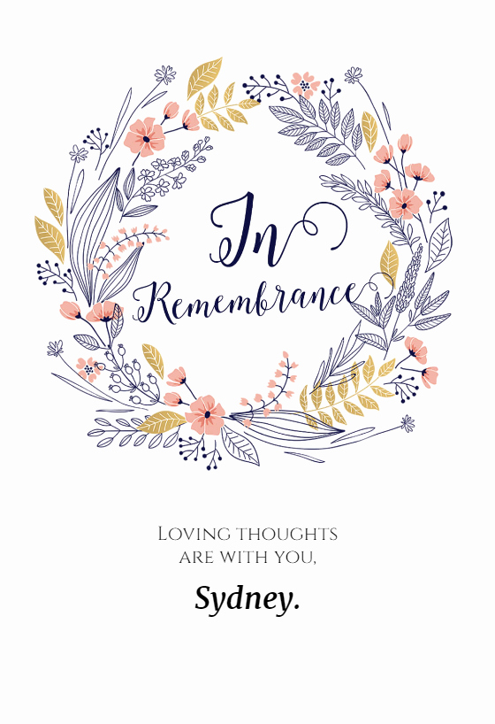 Printable Sympathy Card Free Best Of In Remembrance Sympathy & Condolences Card Free