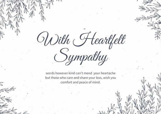 Printable Sympathy Card Free Fresh Customize 111 Sympathy Card Templates Online Canva