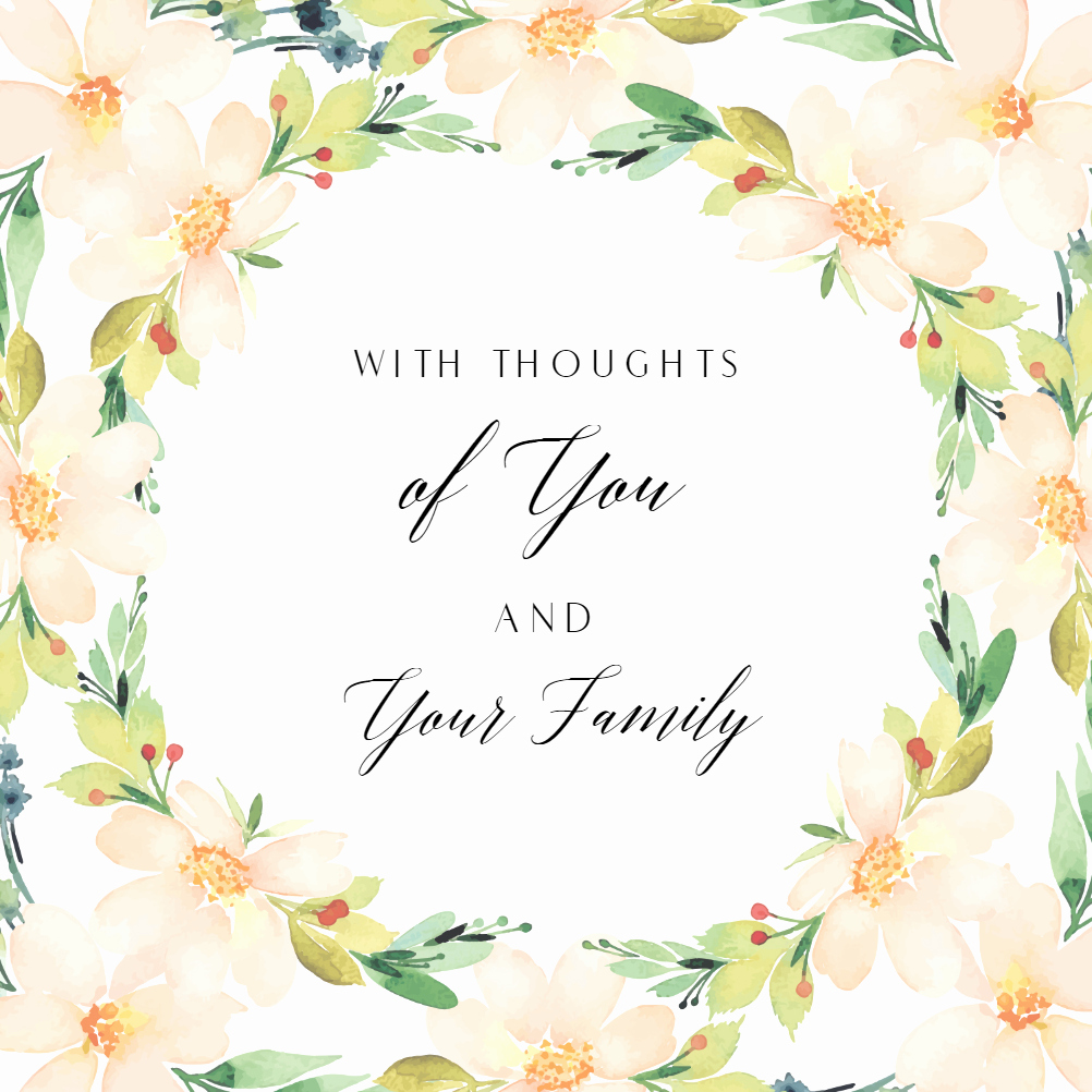Printable Sympathy Card Free Fresh You and Yours Sympathy & Condolences Card Free
