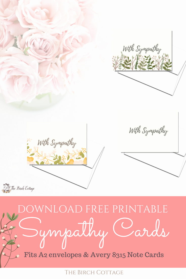 Printable Sympathy Card Free Luxury A Bundle Of Joy & some Heartbreaking News with Printable