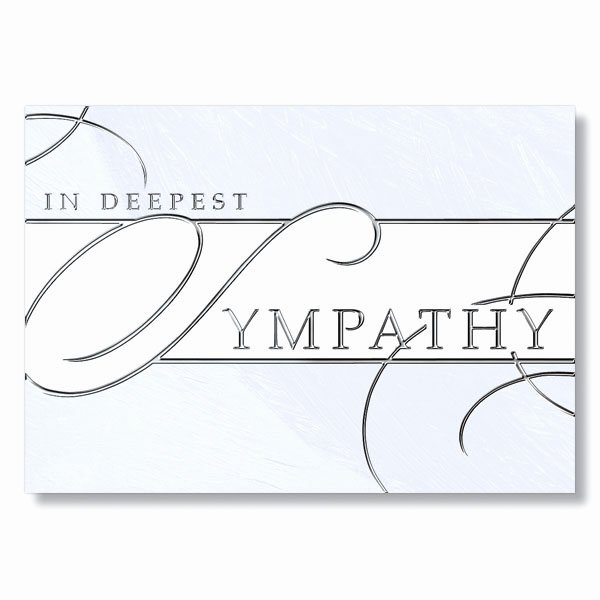 Printable Sympathy Card Free Luxury formal Business Sympathy Card