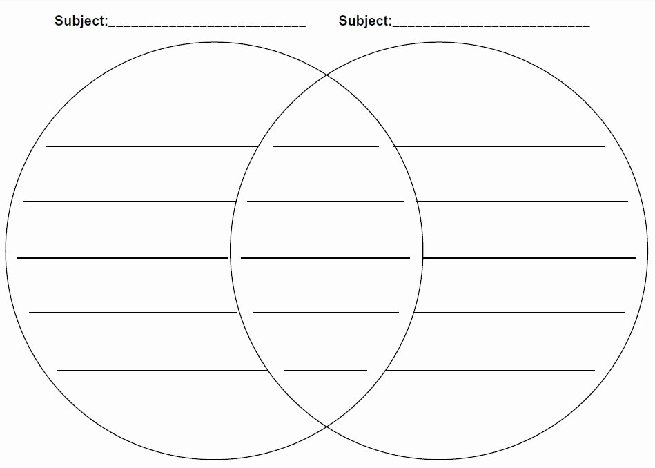 Printable Venn Diagram with Lines Awesome 29 Of Venn Diagram with Lines Template