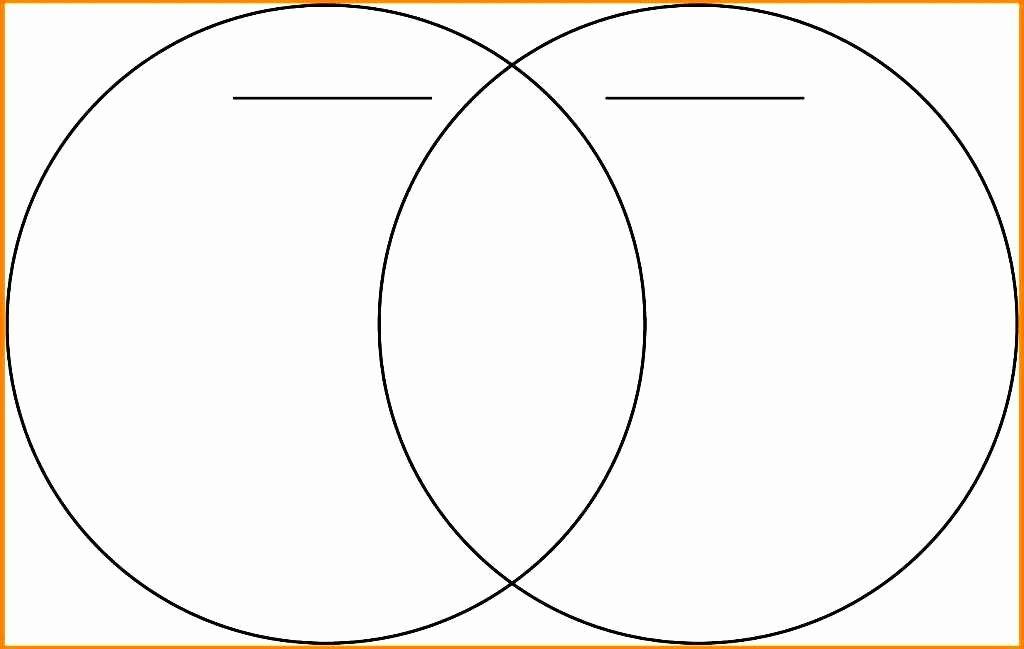 Printable Venn Diagram with Lines Elegant Printable Blank Venn Diagram Template Worksheet