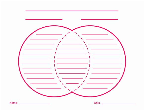 Printable Venn Diagram with Lines Fresh 10 Venn Diagram Worksheet Templates Free Sample