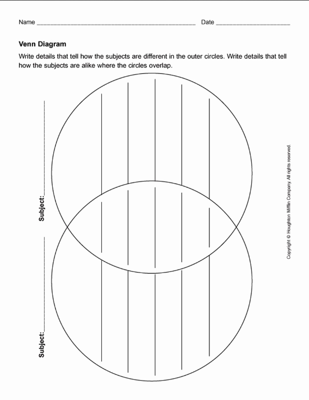 Printable Venn Diagram with Lines Inspirational 8 Free Collection Venn Diagram Templates Calypso Tree