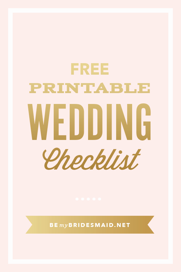 Printable Wedding Checklist Free Beautiful Free Wedding Planning Printables & Checklists