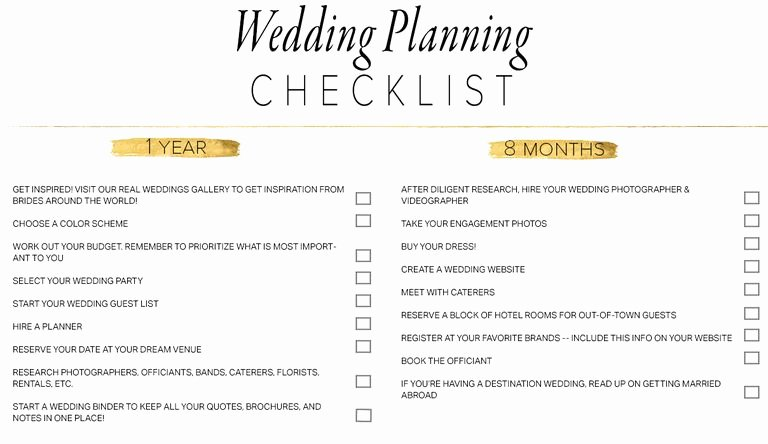 Printable Wedding Checklist Free Best Of 11 Free Printable Checklists for Your Wedding Timeline