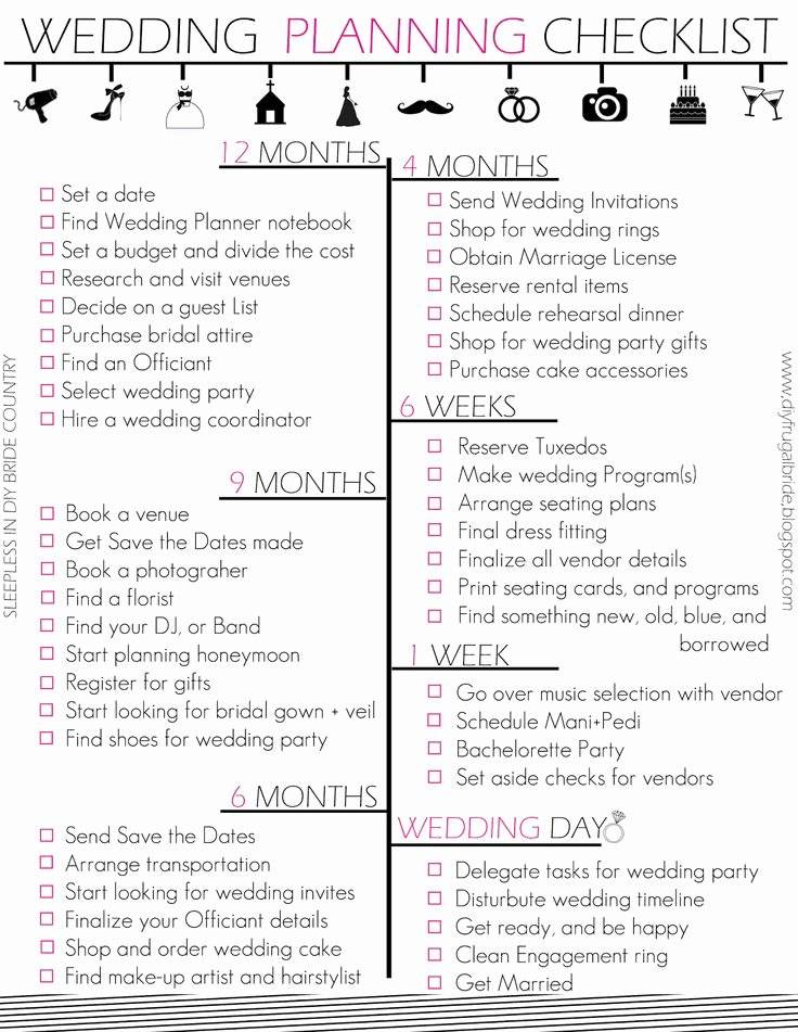 Printable Wedding Checklist Free Luxury 25 Best Ideas About Wedding Checklist Printable On