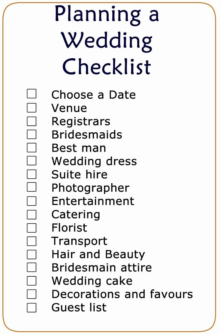 Printable Wedding Checklist Free New 19 Best Wedding Checklist Images On Pinterest