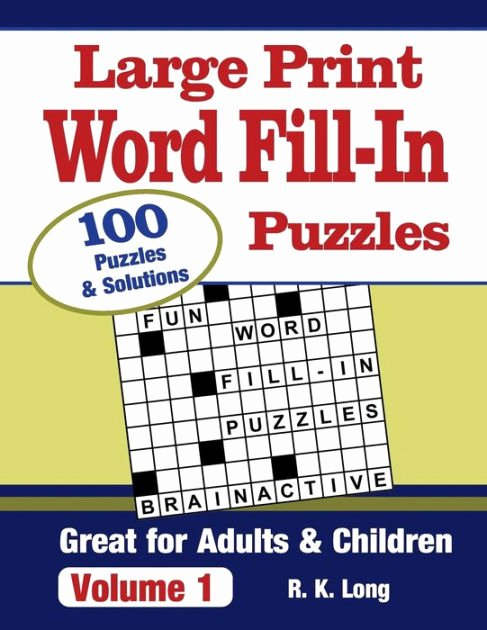 Printable Word Fill In Puzzles Elegant Print Word Fill In Puzzles Volume 1 100 Full Page