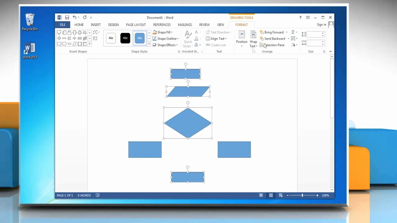 Process Flow Charts In Word Luxury Make A Flow Chart In Microsoft Word 2013