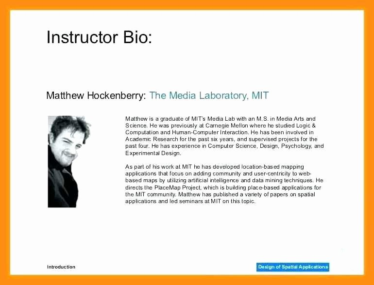 Professional Bio Template Word Elegant Sample Artists Biography