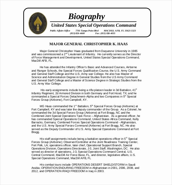 Professional Bio Template Word New 28 Biography Templates Doc Pdf Excel
