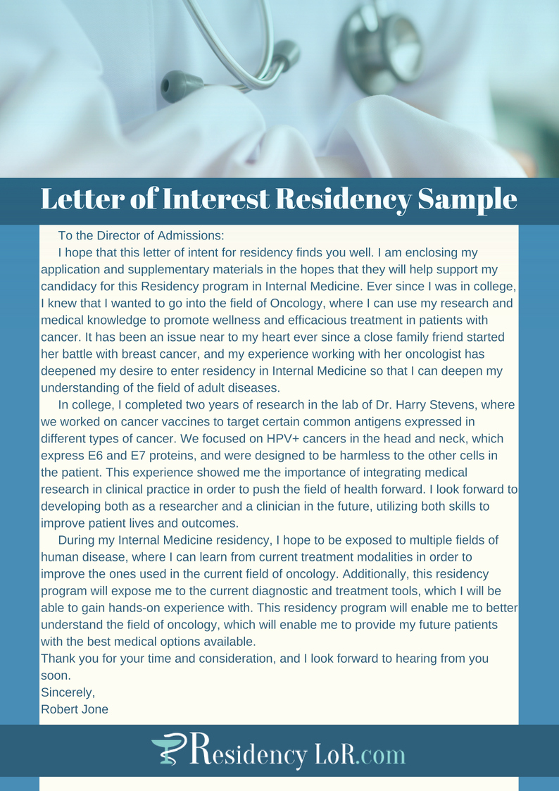 Professional Letter Of Interest Best Of Professional Residency Letter Of Interest Writing Help