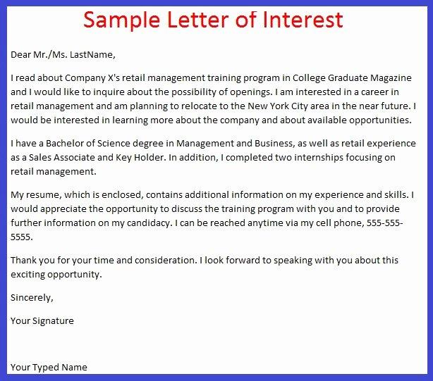 Professional Letter Of Interest Lovely Job Application Letter Example Job Application Letter Of