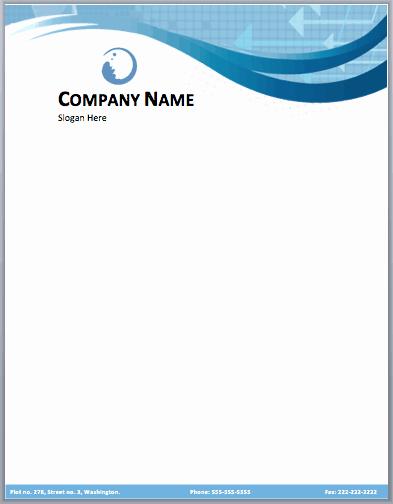 pany letterhead template free