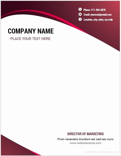 Professional Letterhead Template Free Best Of 10 Best Letterhead Templates Word 2007 format