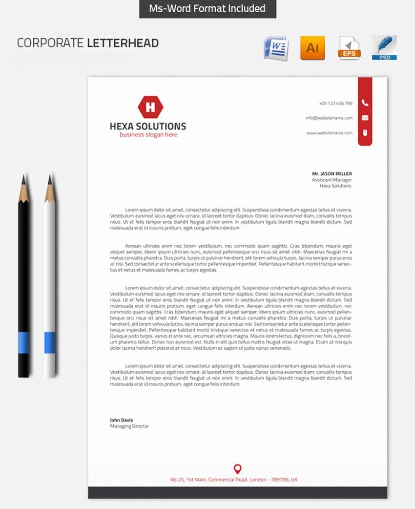 Professional Letterhead Template Free Inspirational 25 Professional Modern Letterhead Templates themekeeper