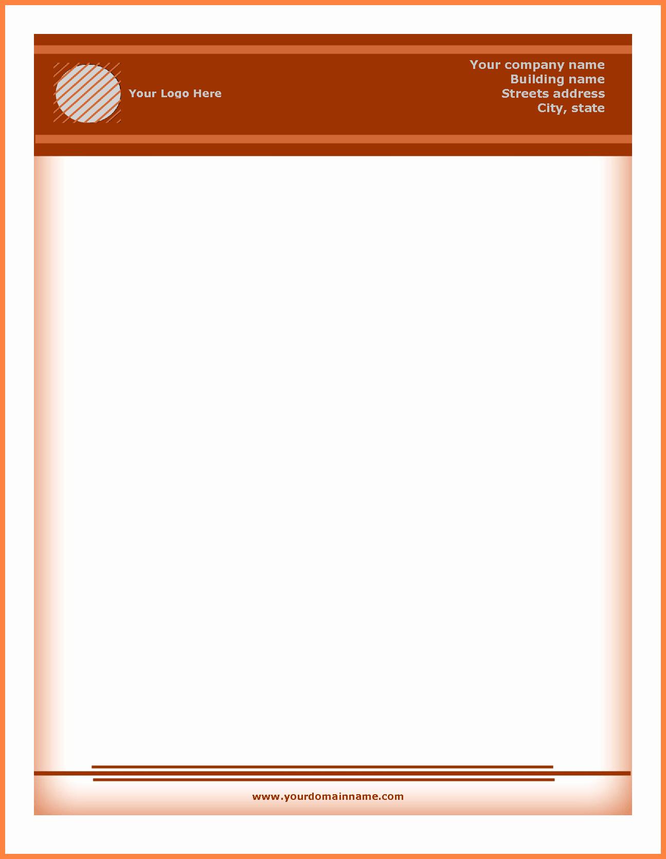 Professional Letterhead Template Free Inspirational 5 Letterhead Templates