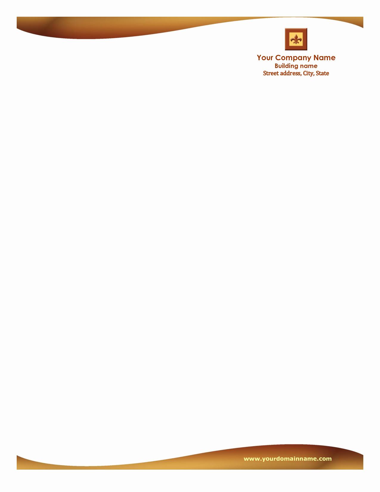 Professional Letterhead Template Free New Letterhead Templates Free