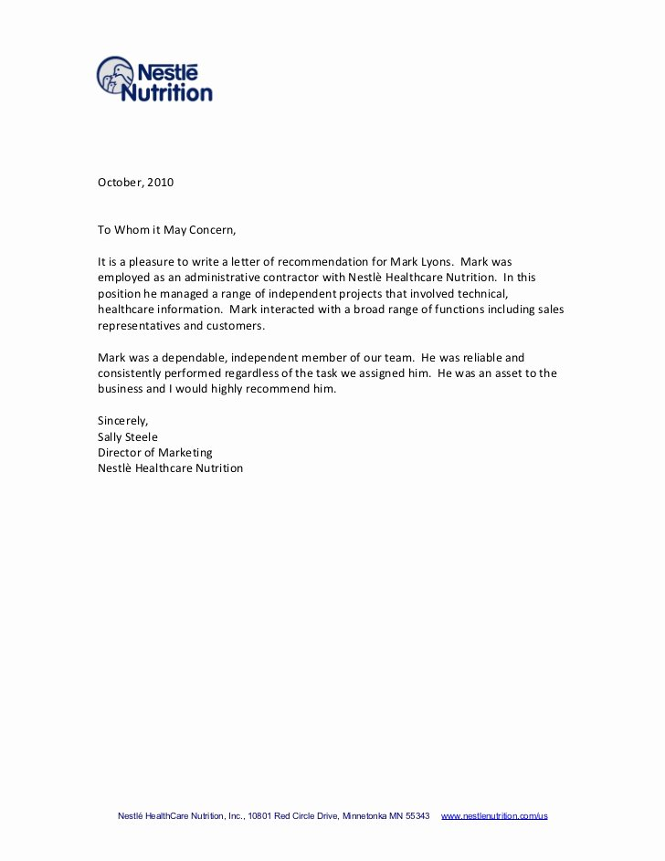 Professional Recommendation Letter Example Best Of Tips for Writing A Letter Of Re Mendation
